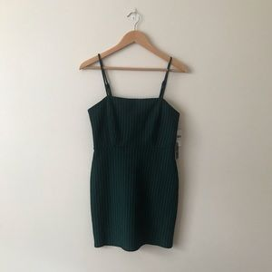 NWT F21 Green Bodycon Dress